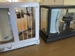 Hydrograph and barograph for weather forecasting