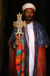Ethiopia - Lalibela priest with ceremonial cross