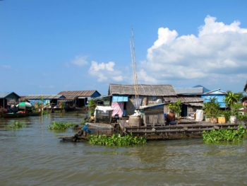 Floating villages along the Mekong River