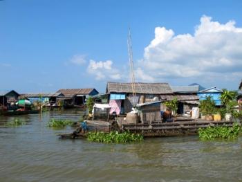 Floating villages along the Mekong River