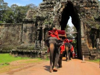 Entrance to Angkor Thom and Bayon