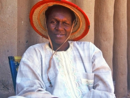 Dogon man in traditional dress, Mali