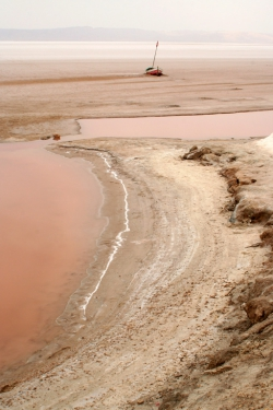Chott el Jerid salt lake