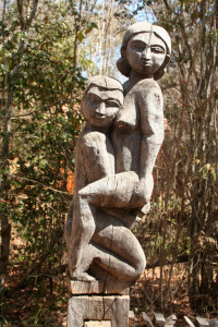 Erotic funery art by the Sakalava tribe
