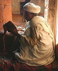 Lalibela priest reading