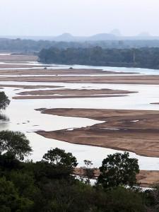 Lugenda river at dusk