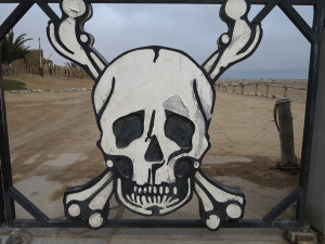 Memorable Skeleton Coast Park entrance